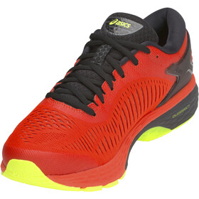 asics Gel-Kayano 25 scarpe da corsa Uomo, cherry tomato/safety yellow